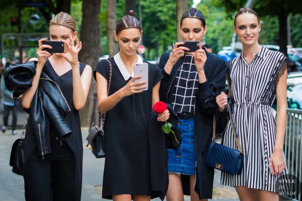 Models Street Style Street Fashion Streetsnaps after Ralph and Russo at Paris Couture