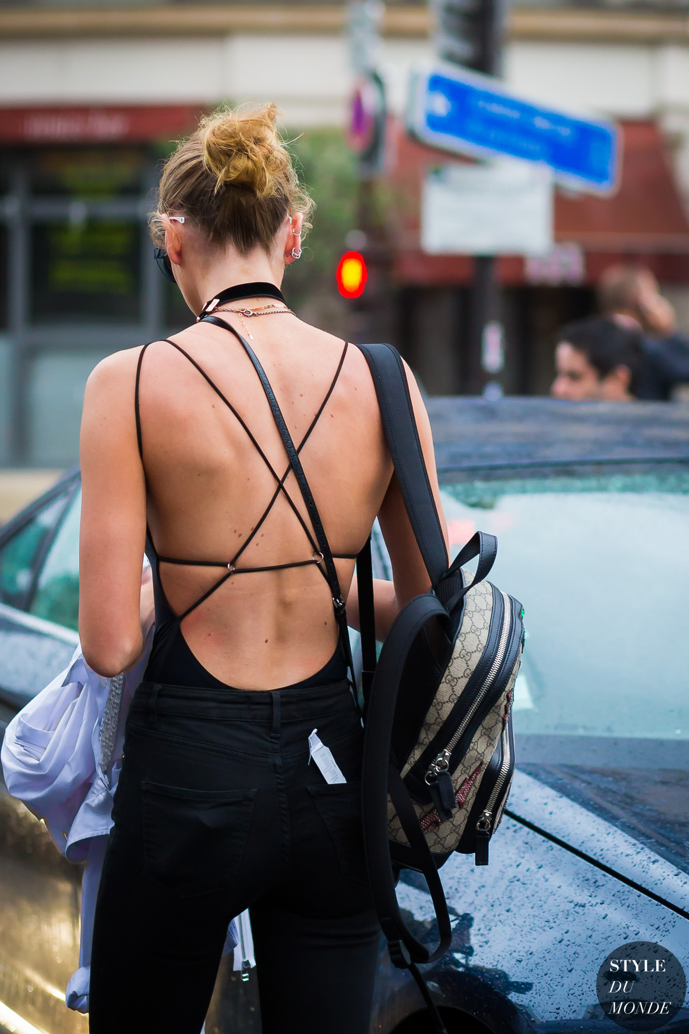 Stella Maxwell Street Style Street Fashion Streetsnaps by STYLEDUMONDE Street Style Fashion Photography