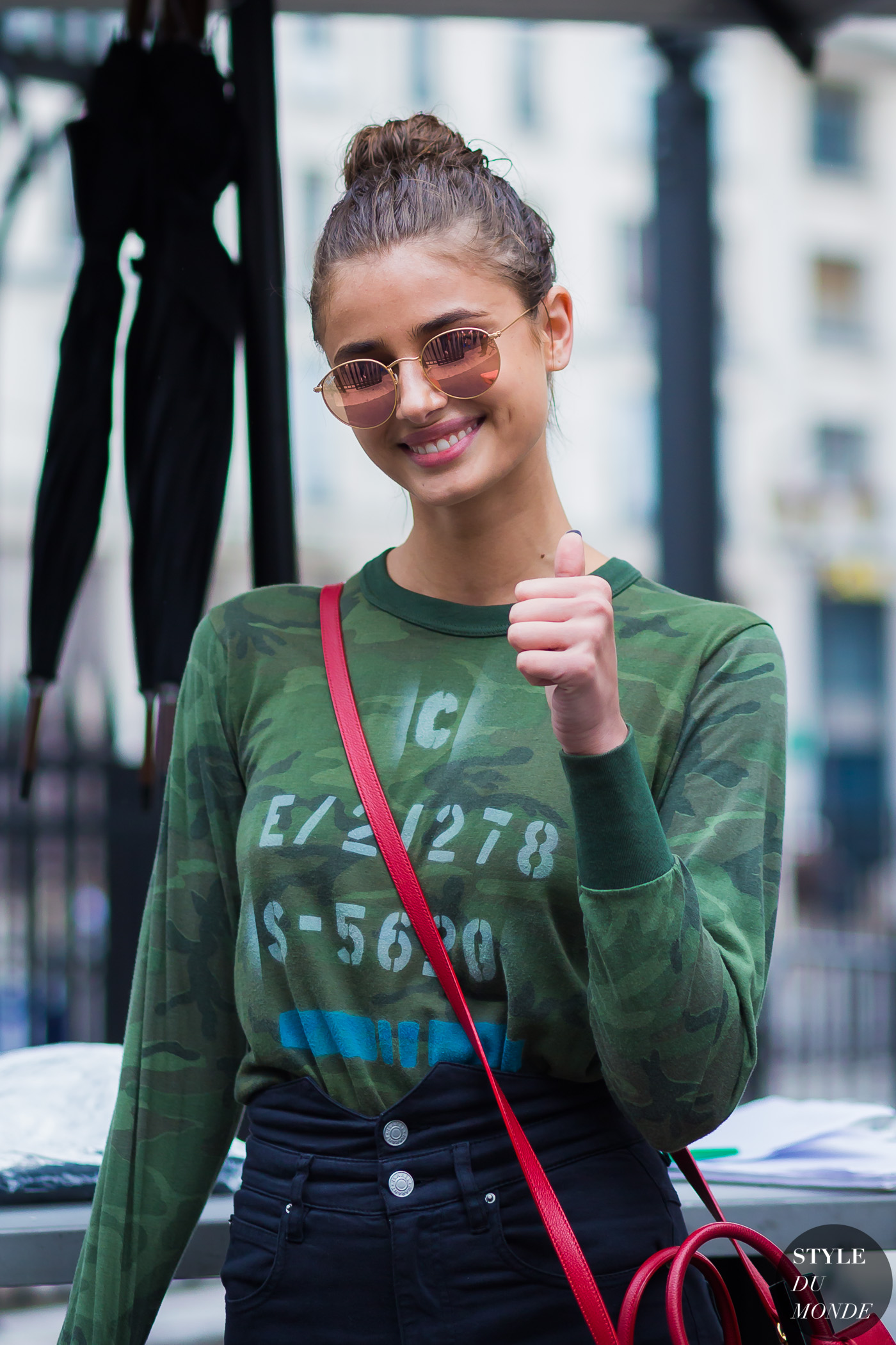 Taylor Hill Street Style Street Fashion Streetsnaps by STYLEDUMONDE Street Style Fashion Photography