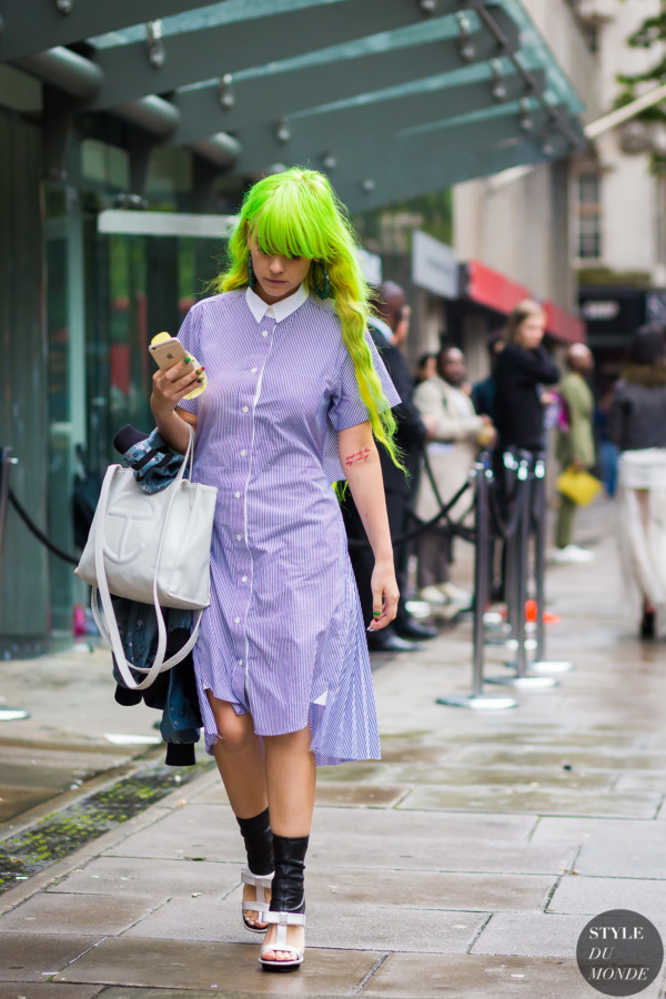 Anna Trevelyan Street Style Street Fashion Streetsnaps by STYLEDUMONDE Street Style Fashion Photography