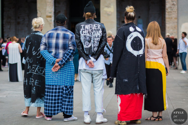 Before Raf Simons Street Style Street Fashion Streetsnaps by STYLEDUMONDE Street Style Fashion Photography