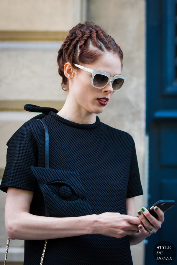 Coco Rocha after Viktor and Rolf show