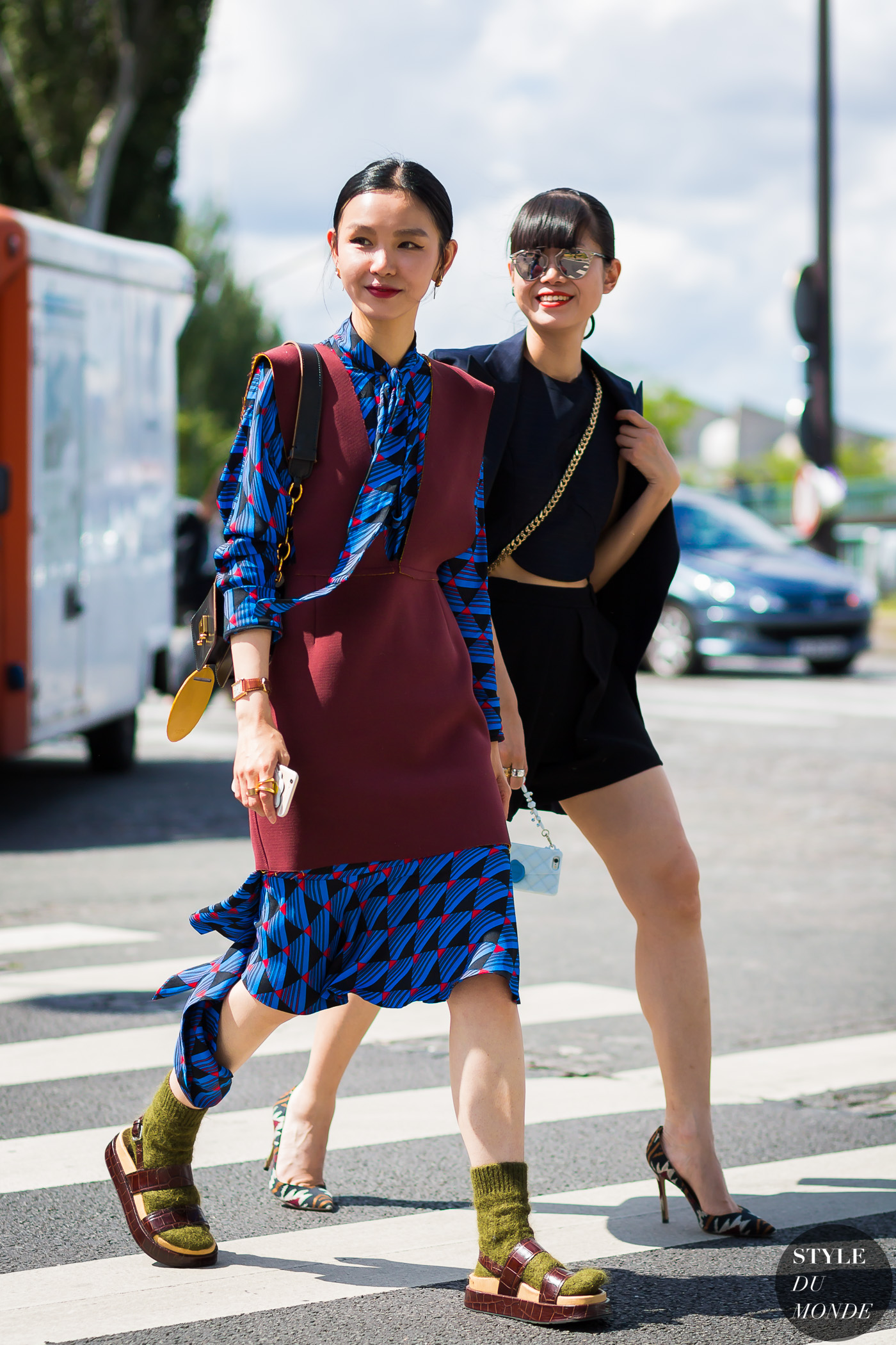 Sherry Shen and Leaf Greener Street Style Street Fashion Streetsnaps by STYLEDUMONDE Street Style Fashion Photography