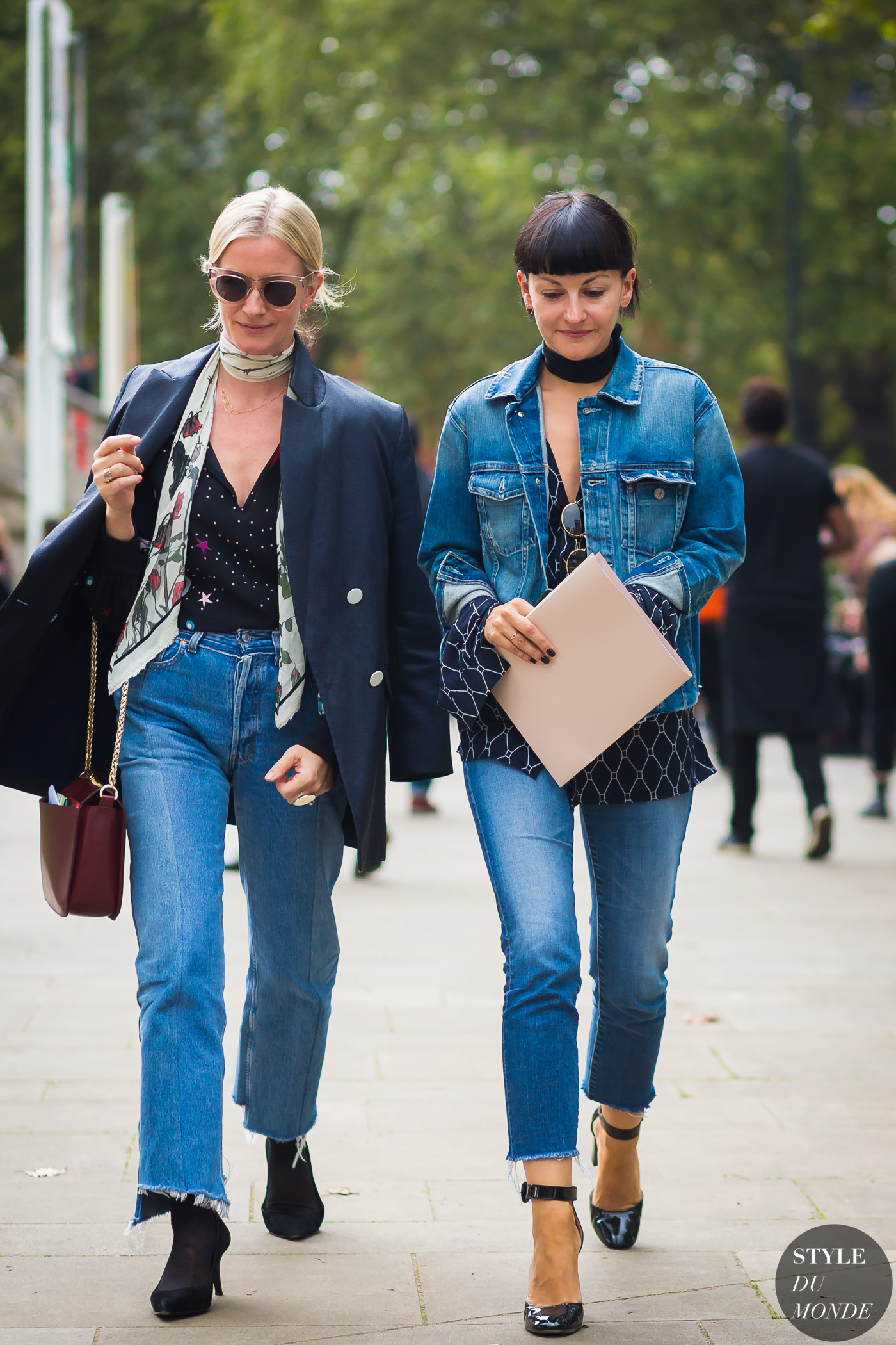Between the shows Denim by STYLEDUMONDE Street Style Fashion Photography