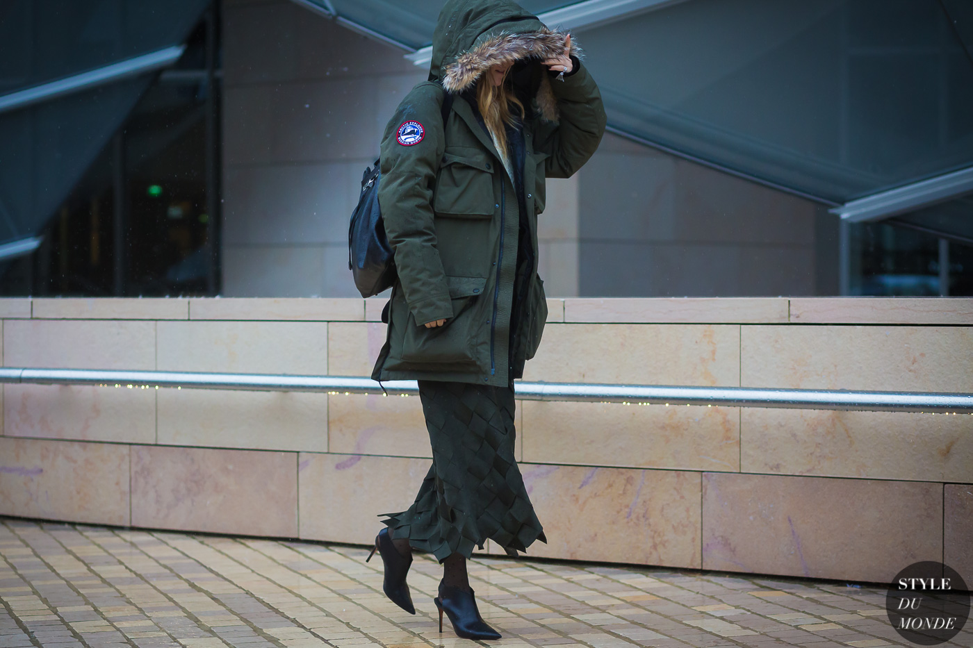 Khaki parka Between the shows by STYLEDUMONDE Street Style Fashion Photography