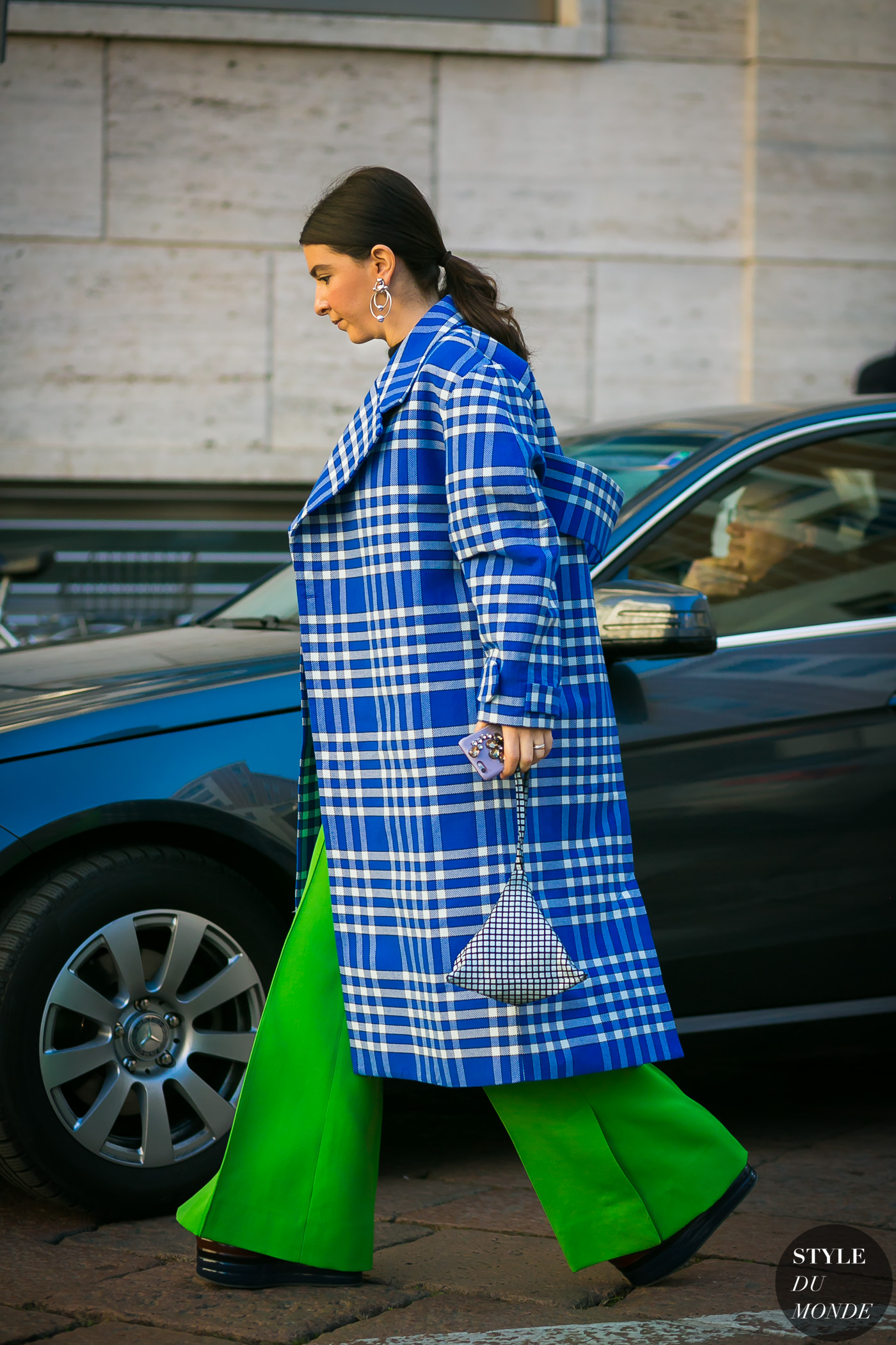 Jacquemus Plaid Coat by STYLEDUMONDE Street Style Fashion Photography