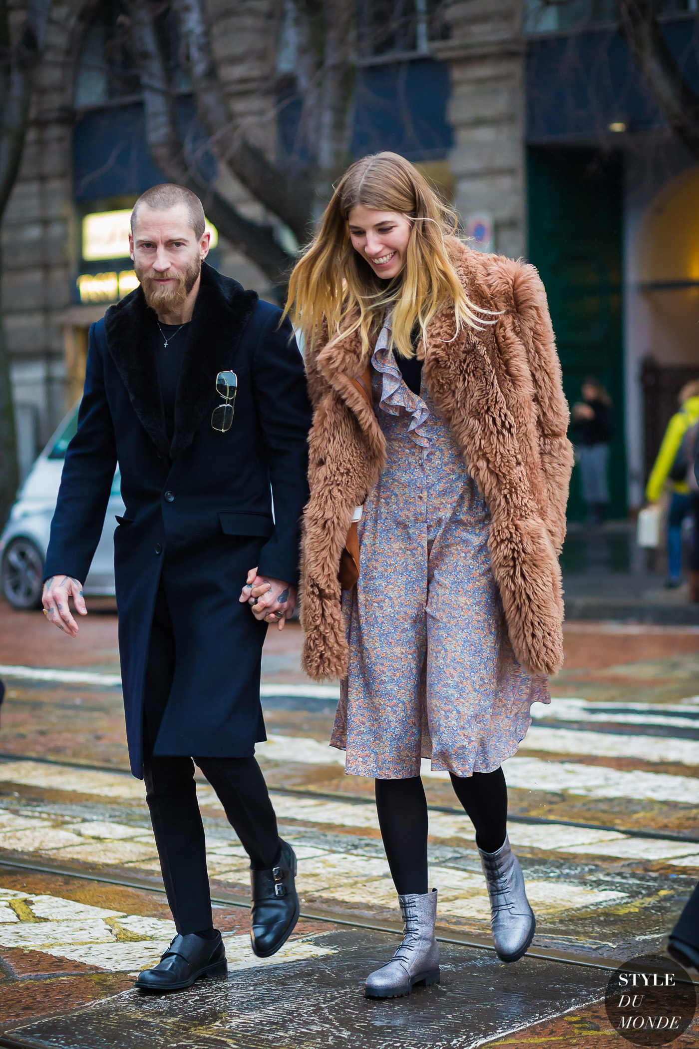 Justin OShea and Veronika Heilbrunner by STYLEDUMONDE Street Style Fashion Photography