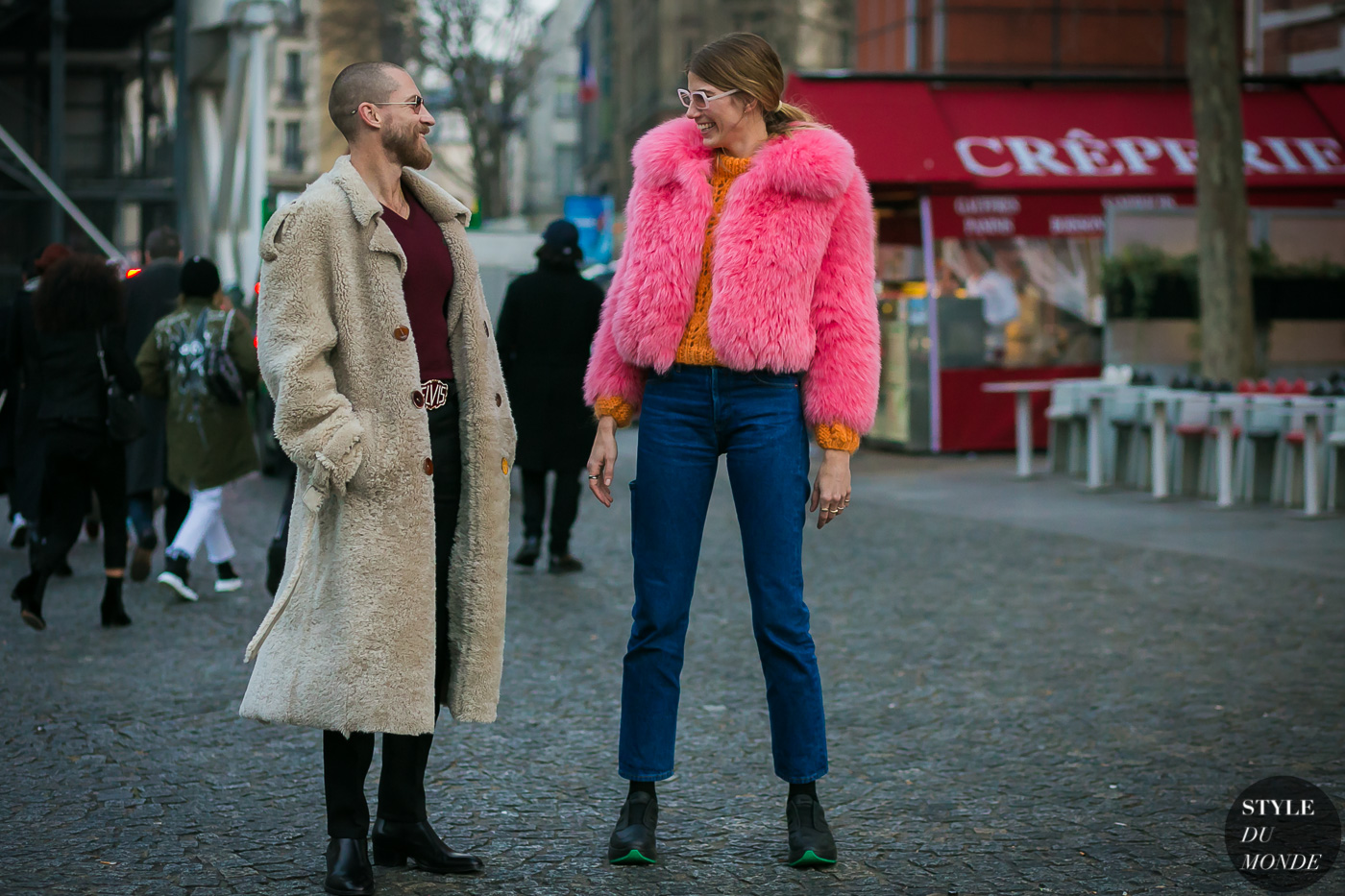 Veronika Heilbrunner and Justin O'Shea by STYLEDUMONDE Street Style Fashion Photography