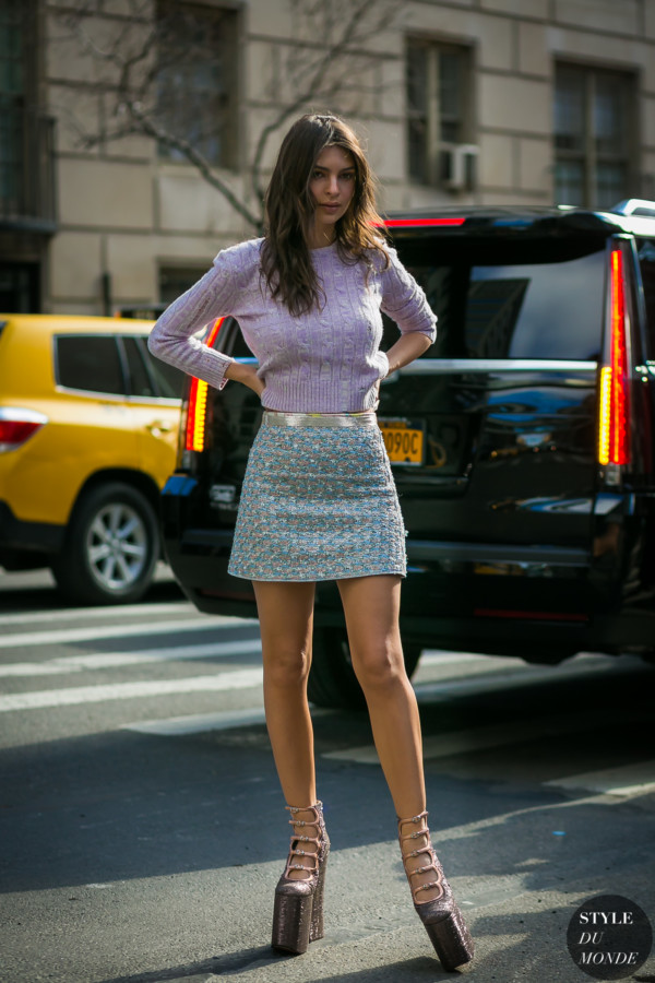 Emily Ratajkowski by STYLEDUMONDE Street Style Fashion Photography