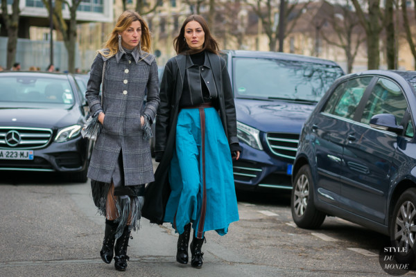 Ada Kokosar and Giorgia Tordini by STYLEDUMONDE Street Style Fashion Photography