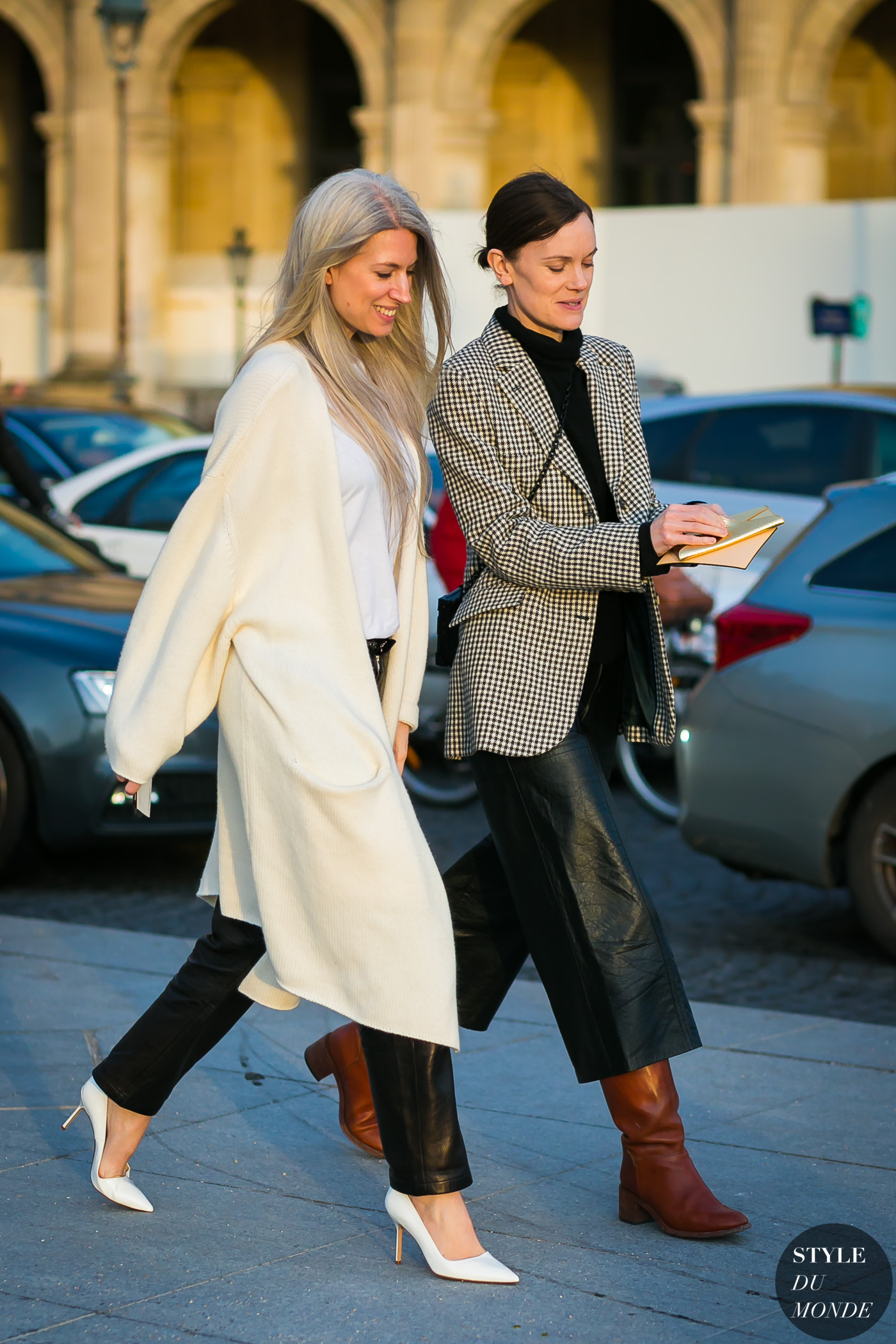 Sarah Harris and Jo Ellison by STYLEDUMONDE Street Style Fashion Photography