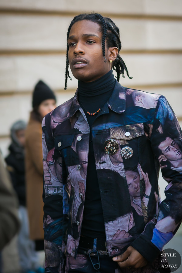 ASAP Rocky before Dior Homme show