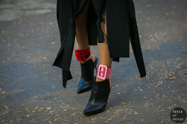 Attico Satin Ankle Cuffs by STYLEDUMONDE Street Style Fashion Photography
