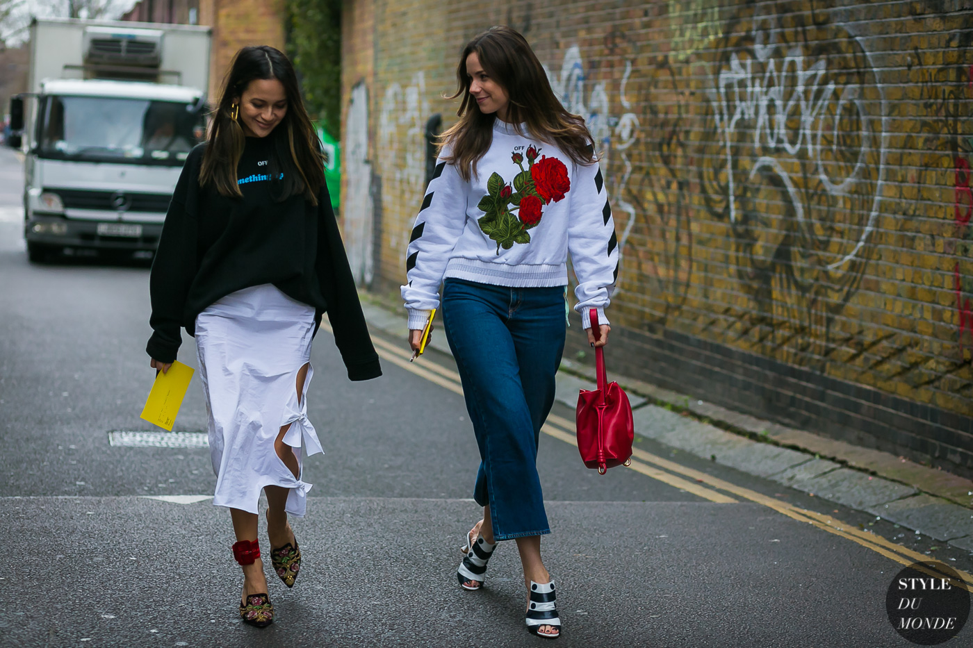 Florrie Thomas and Anna Rosa Vitiello by STYLEDUMONDE Street Style Fashion Photography