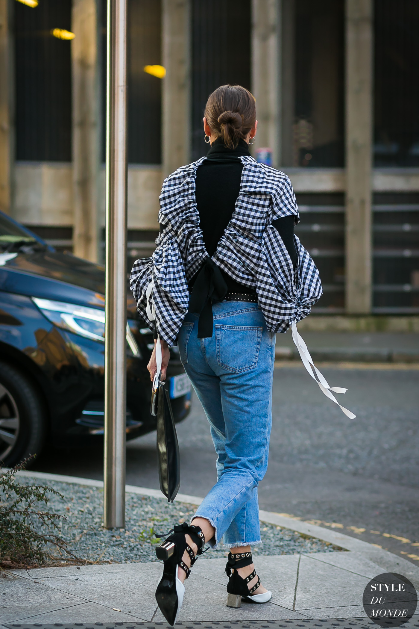 Plaid Blouse by STYLEDUMONDE Street Style Fashion Photography