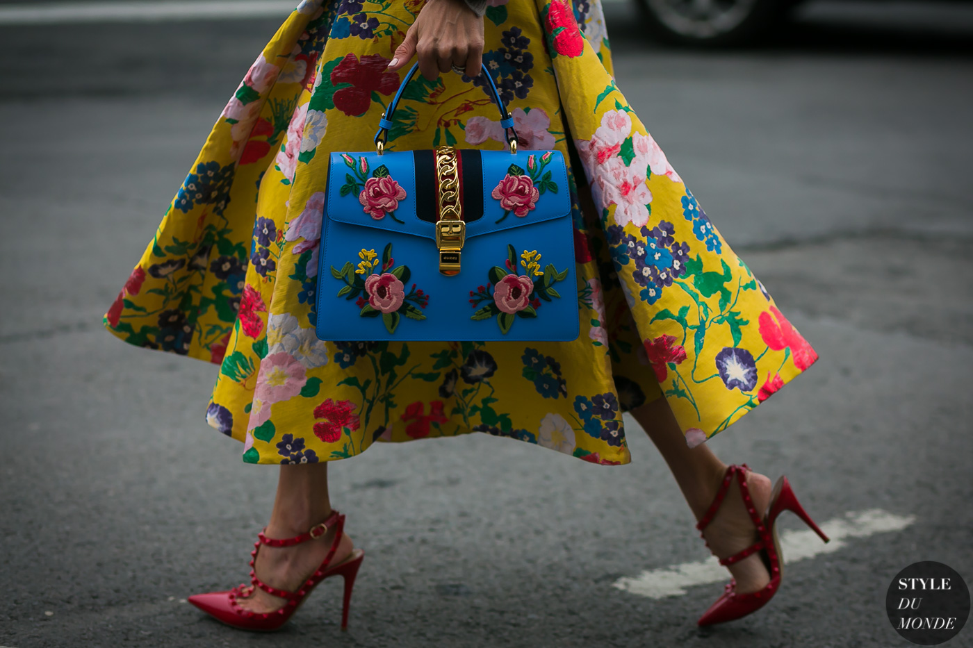 Gucci bag Valentino shoes by STYLEDUMONDE Street Style Fashion Photography