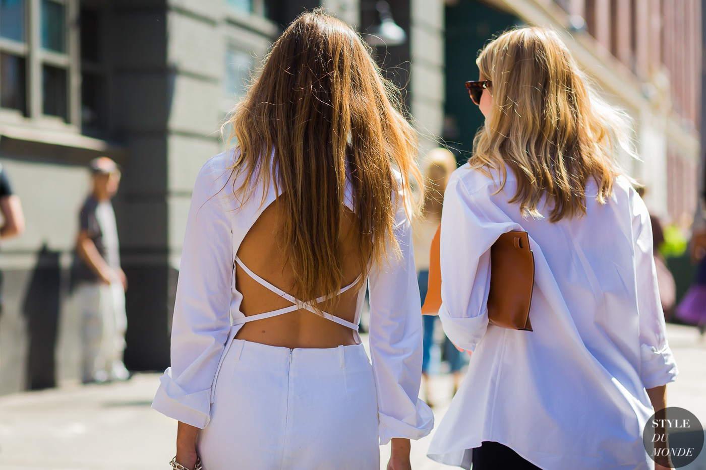 Laura Stoloff and Brie Welch by STYLEDUMONDE Street Style Fashion Photography