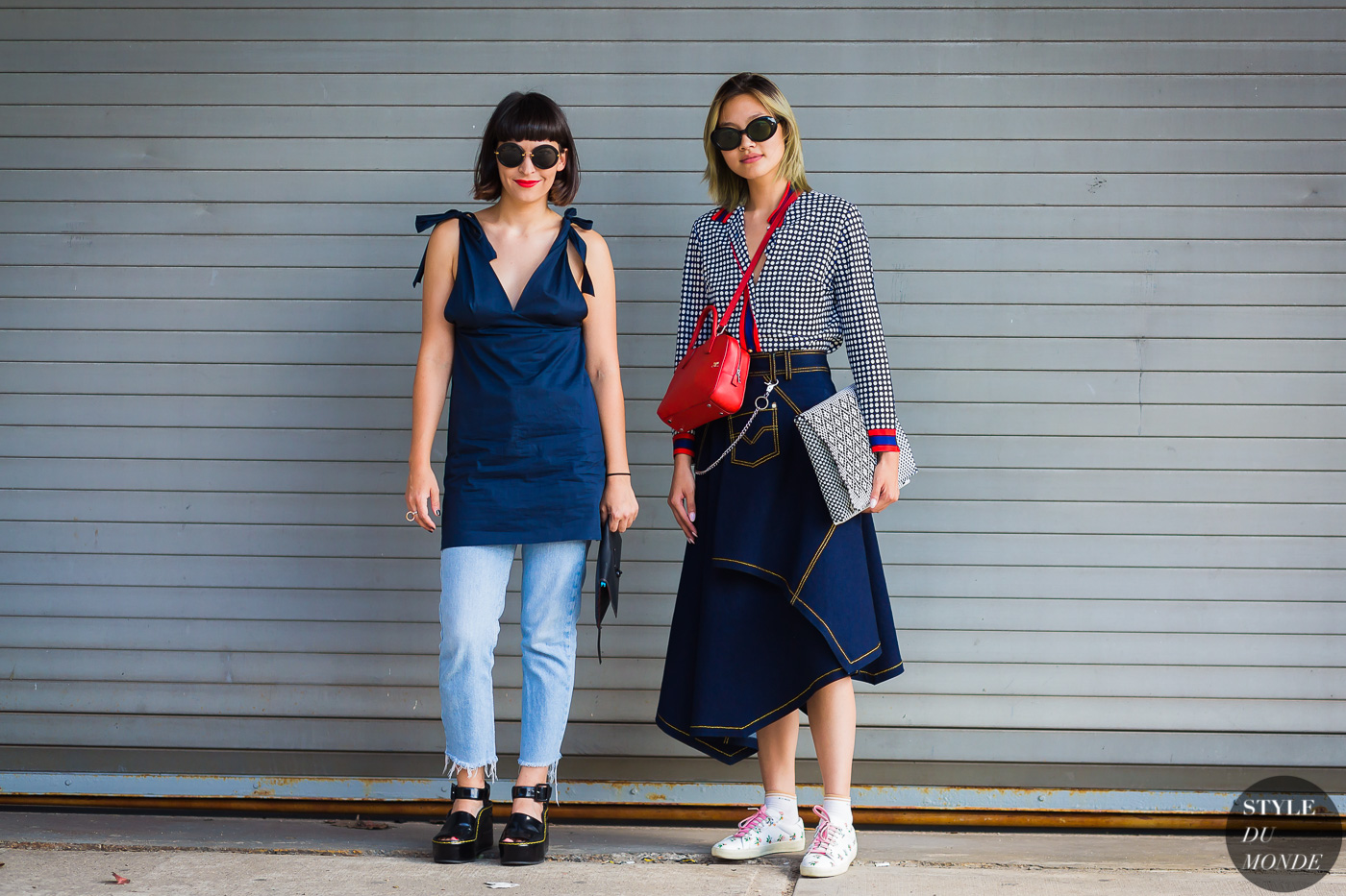 Clara Cornet and Gia Seo by STYLEDUMONDE Street Style Fashion Photography