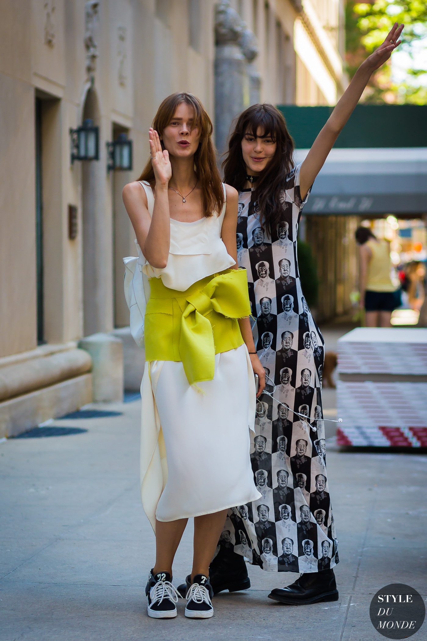 Irina Kravchenko and Irina Shnitman by STYLEDUMONDE Street Style Fashion Photography