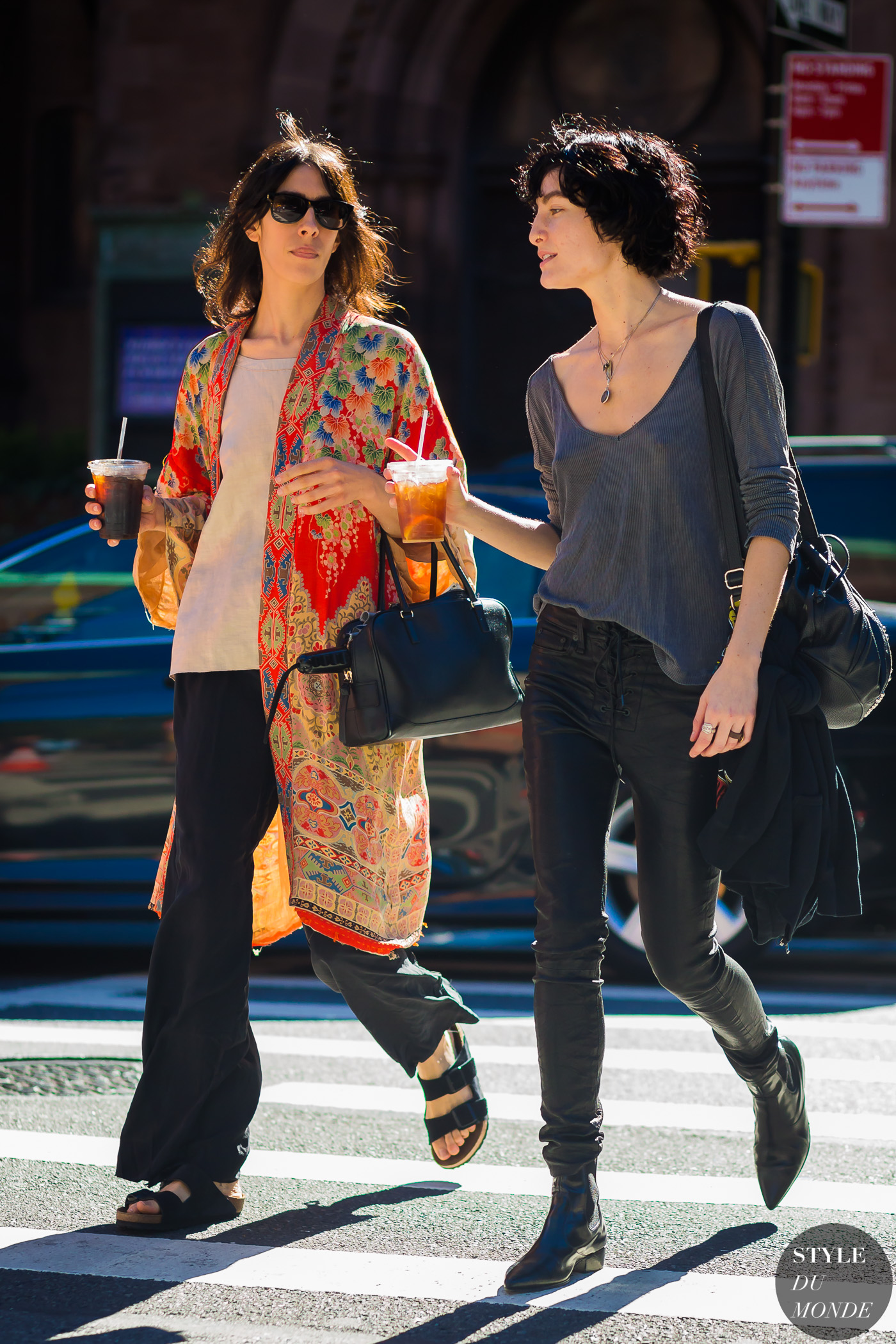 Jamie Bochert and Heather Kemesky by STYLEDUMONDE Street Style Fashion Photography