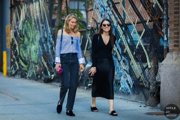 Jessica Minkoff and Jade Frampton by STYLEDUMONDE Street Style Fashion Photography