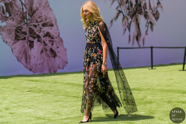 Chiara Ferragni at the Dior couture show