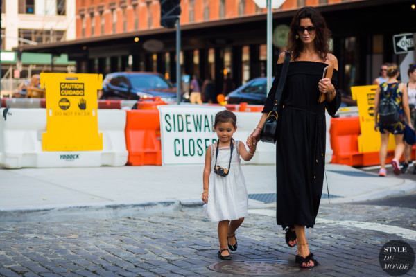 Hedvig Sagfjord Opshaug and her daughter by STYLEDUMONDE Street Style Fashion Photography