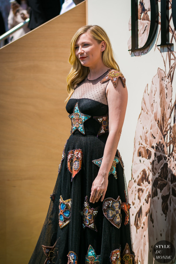 Kirsten Dunst before the Dior couture show