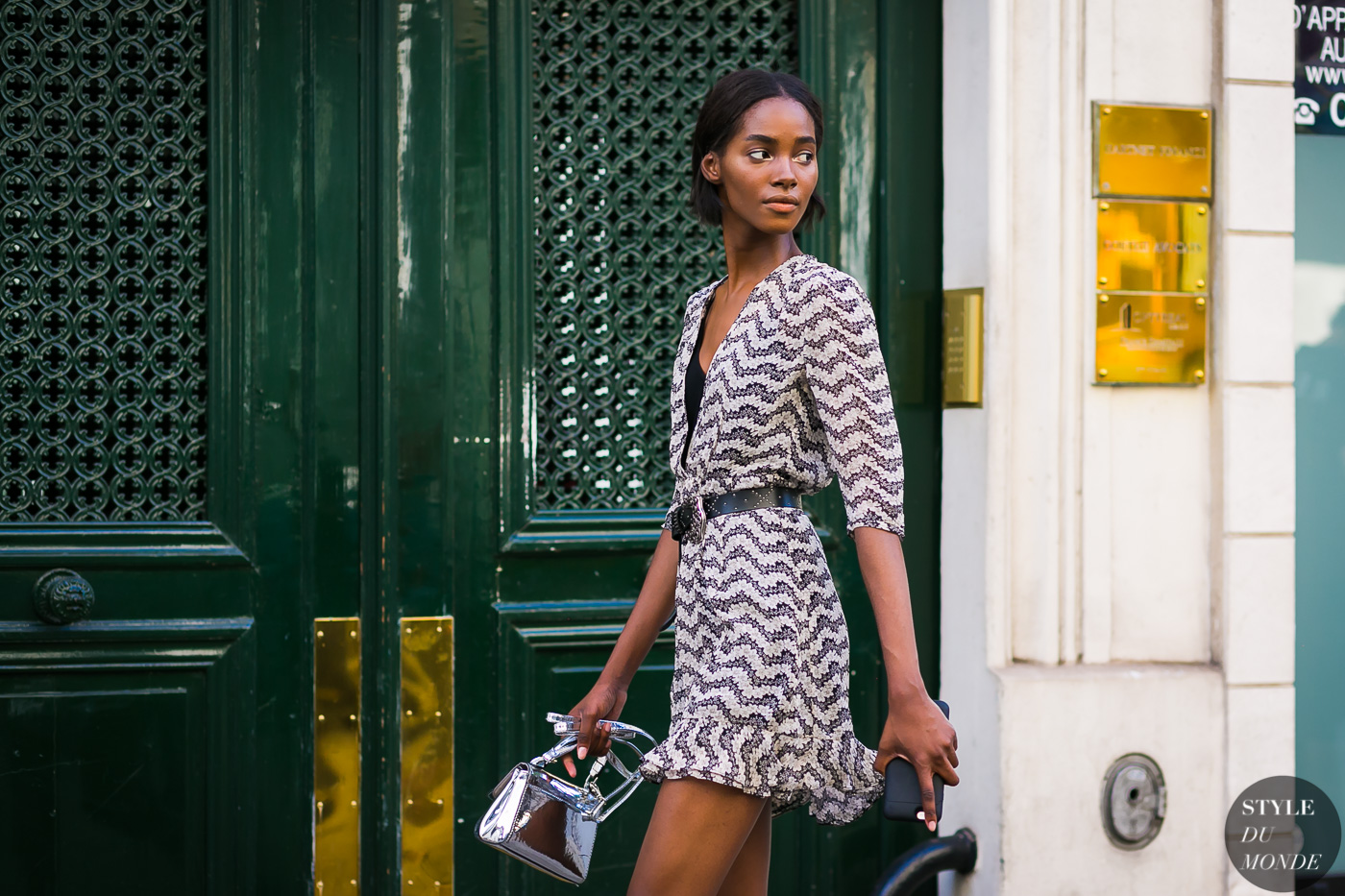 Model Tami Williams on her way to the next show