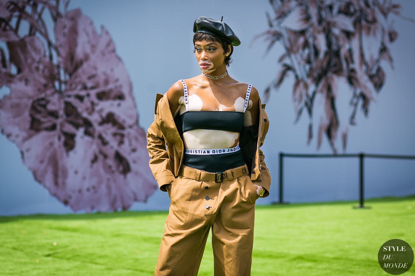Winnie Harlow at Dior Couture