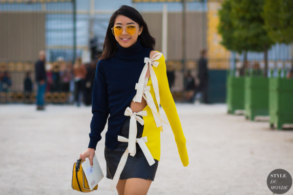 Yuwei Zhangzou at the Jacquemus fashion show