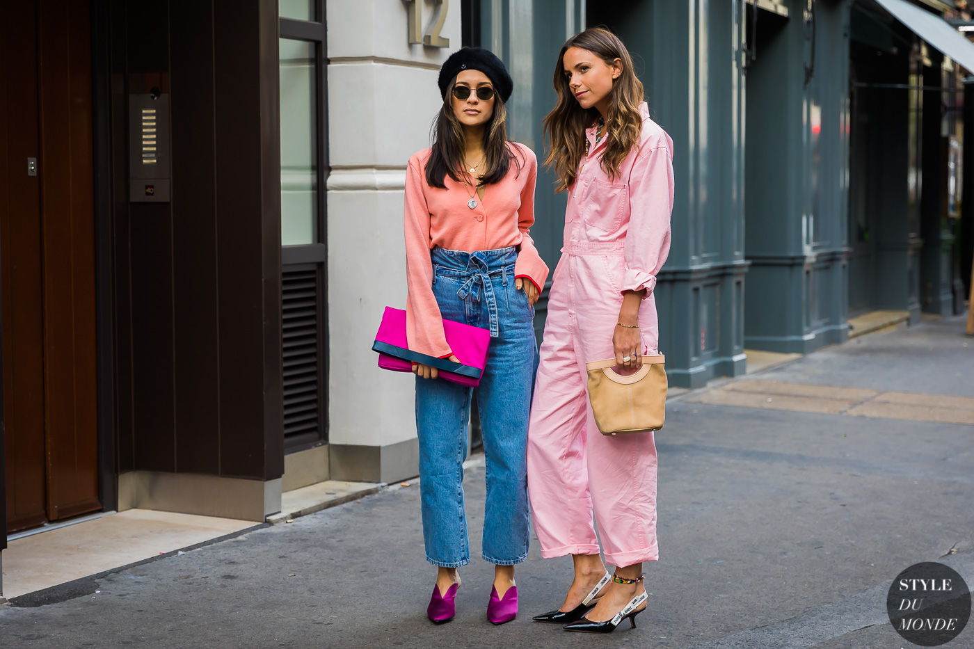 Anna Rosa Vitiello and Florrie Thomas by STYLEDUMONDE Street Style Fashion Photography