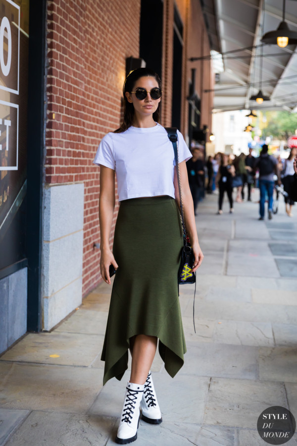 Lily Aldridge by STYLEDUMONDE Street Style Fashion Photography