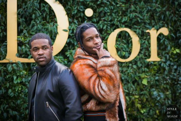 ASAP Rocky and ASAP Ferg at Christian Dior