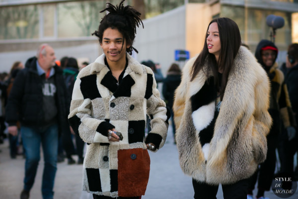 Luka Sabbat and Adriana Mora at Off-White