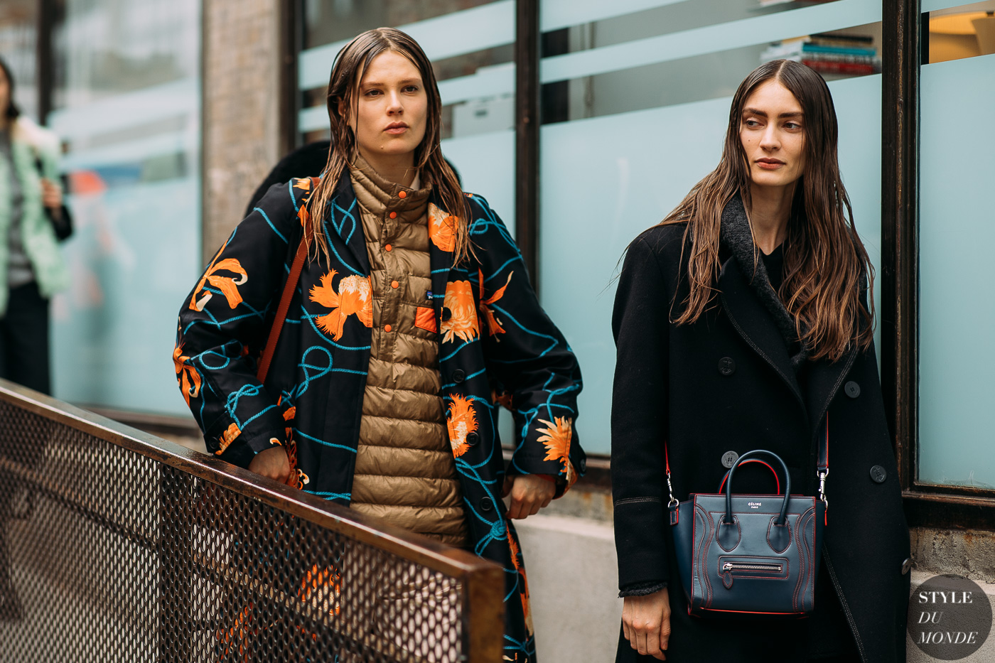 Caroline Brasch Nielsen and Marine Deleeuw by STYLEDUMONDE Street Style Fashion Photography NY FW18 20180212_48A8571