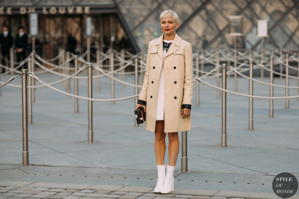 Actress Michelle Williams before Louis Vuitton FW18