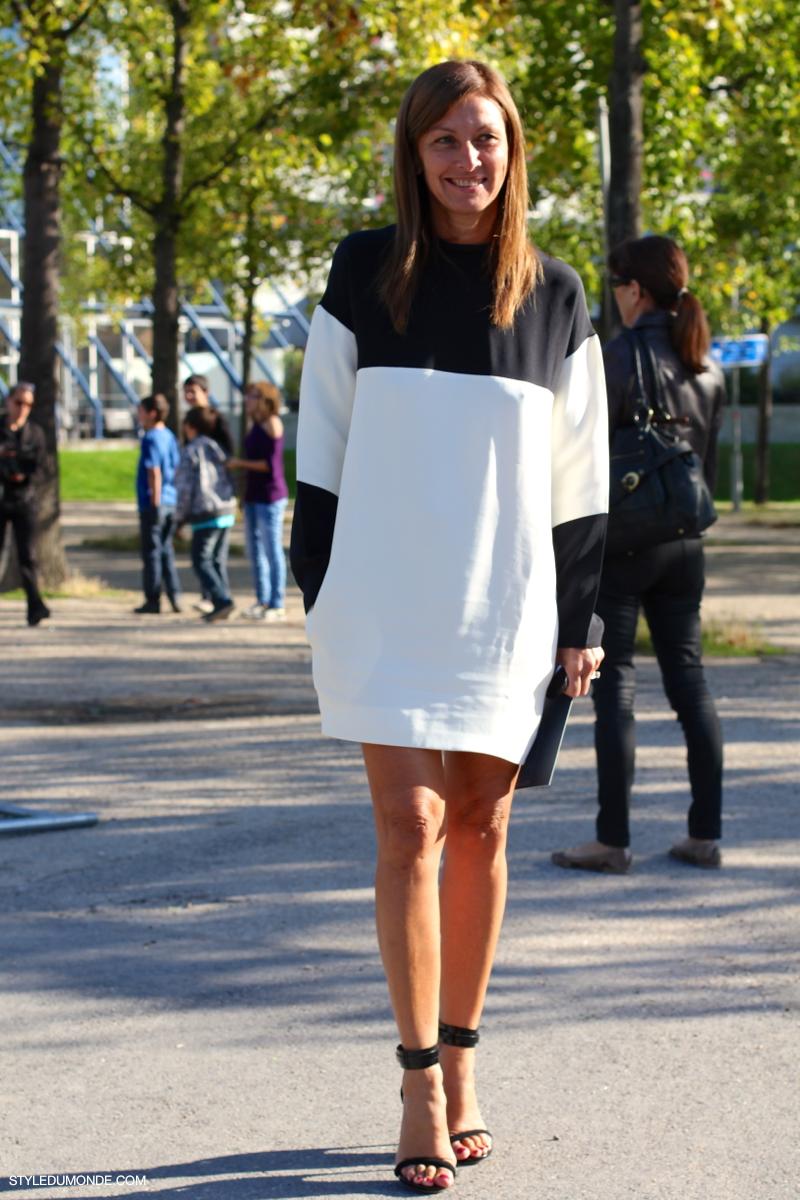 5a18b5dc5b9 Black and white dress - STYLE DU MONDE | Street Style Street Fashion ...