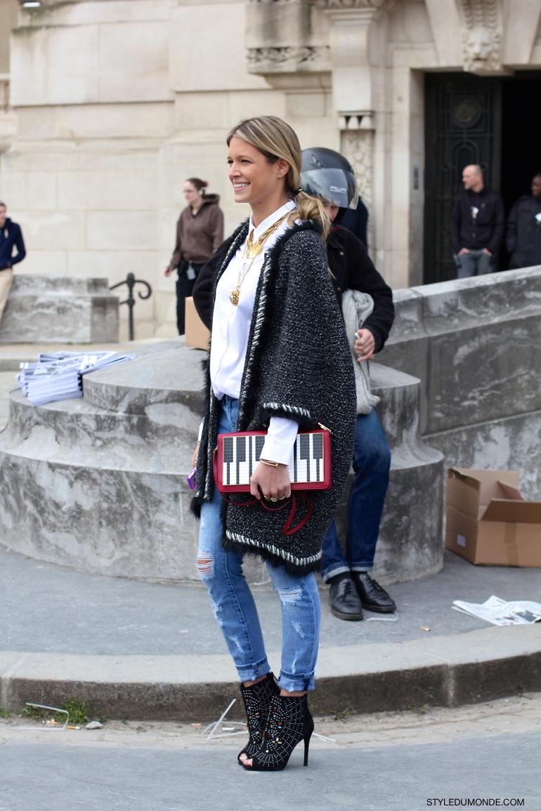 Chanel Jacket Style Du Monde Street Style Street Fashion Photos