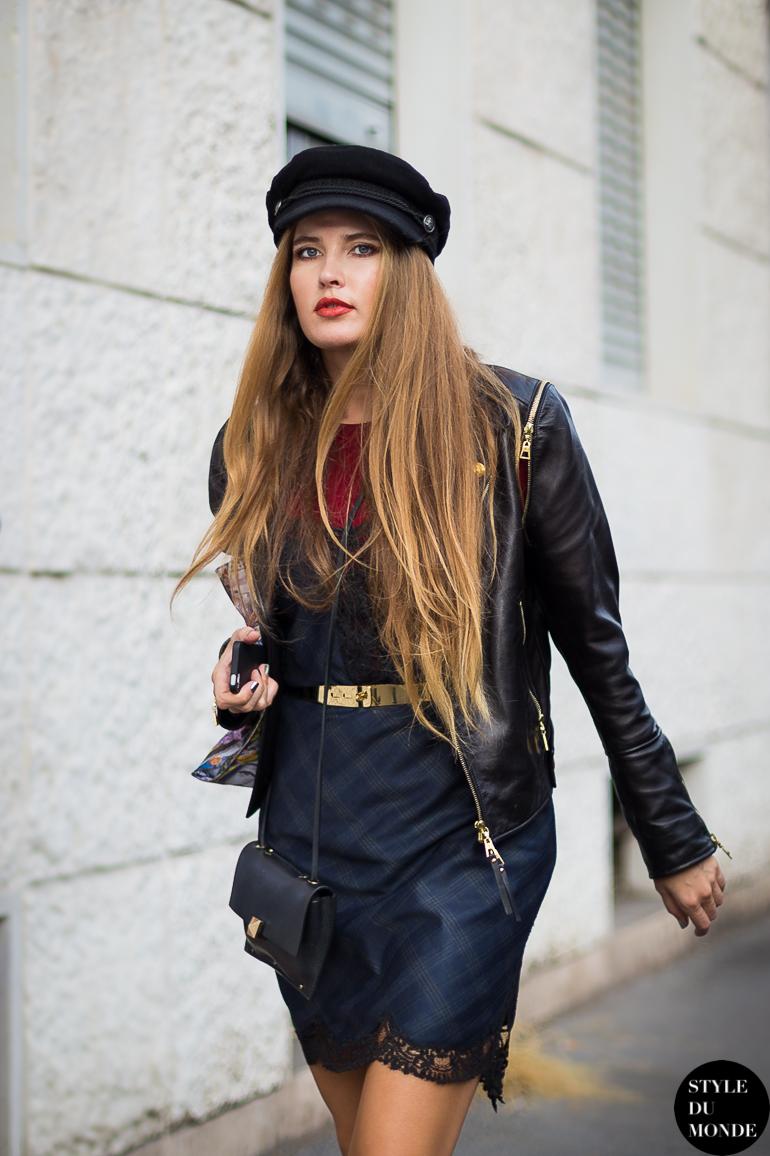 Milan FW SS14 Street Style  Newsboy cap - STYLE DU MONDE  b56267623e7