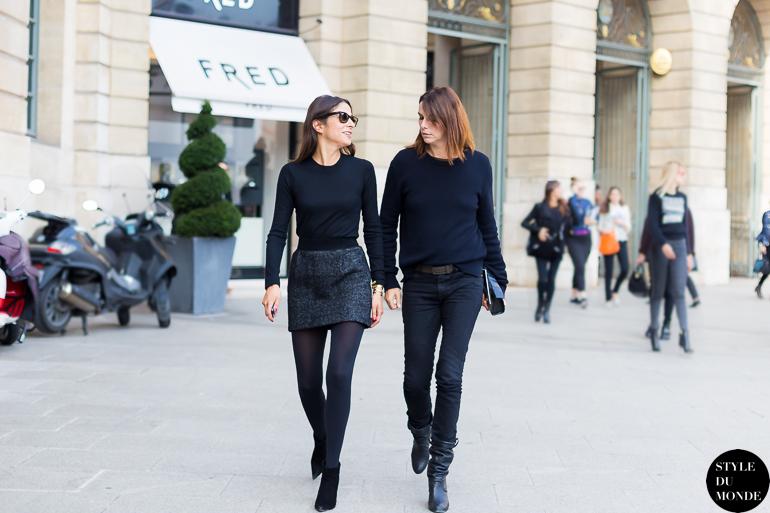 Paris Fw Ss14 Street Style Capucine Safyurtlu And Claire