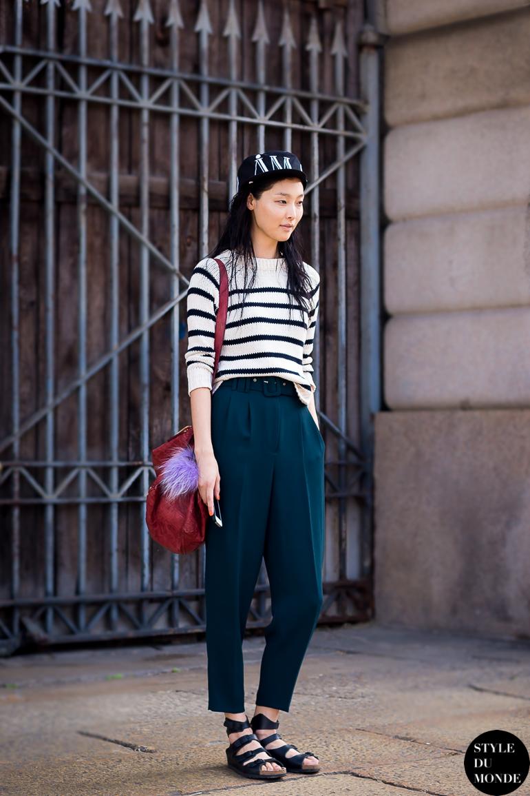Milan Fw Ss14 Street Style Sung Hee Kim Style Du Monde