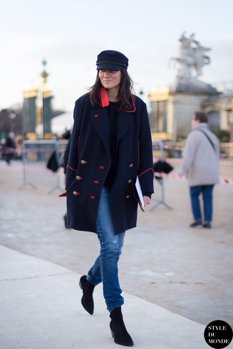 Paris Fashion Week Fw 2014 Street Style Emmanuelle Alt