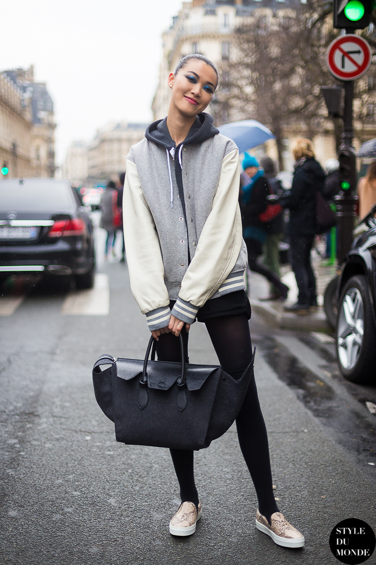Haute Couture Ss 2014 Street Style Model Off Duty Style