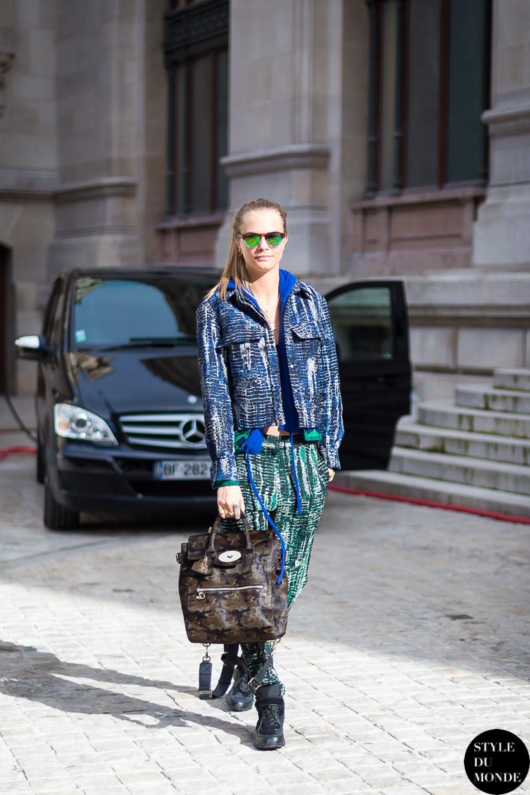 Paris Fashion Week Fw 2014 Street Style Cara Delevingne