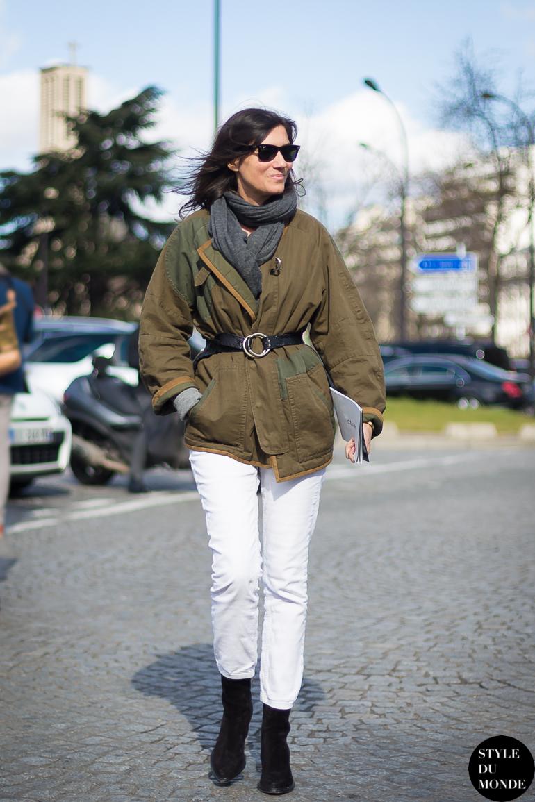 Paris Fashion Week Fw 2014 Street Style Emmanuelle Alt