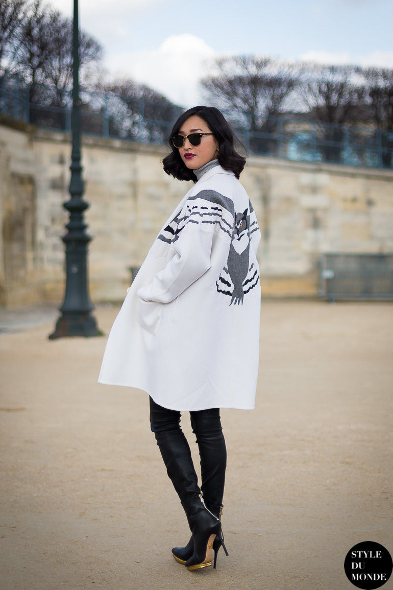 Paris Fashion Week Fw 2014 Street Style Nicole Warne