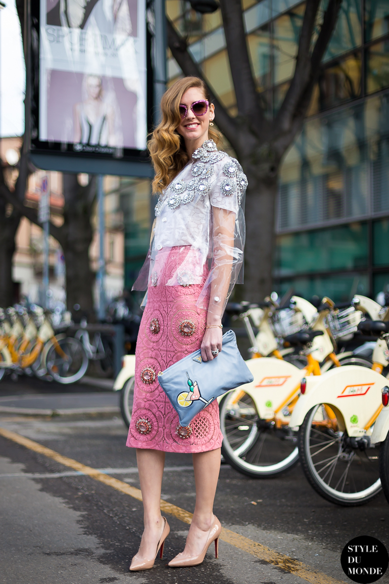 Milan Fashion Week Fw 2014 Street Style Chiara Ferragni