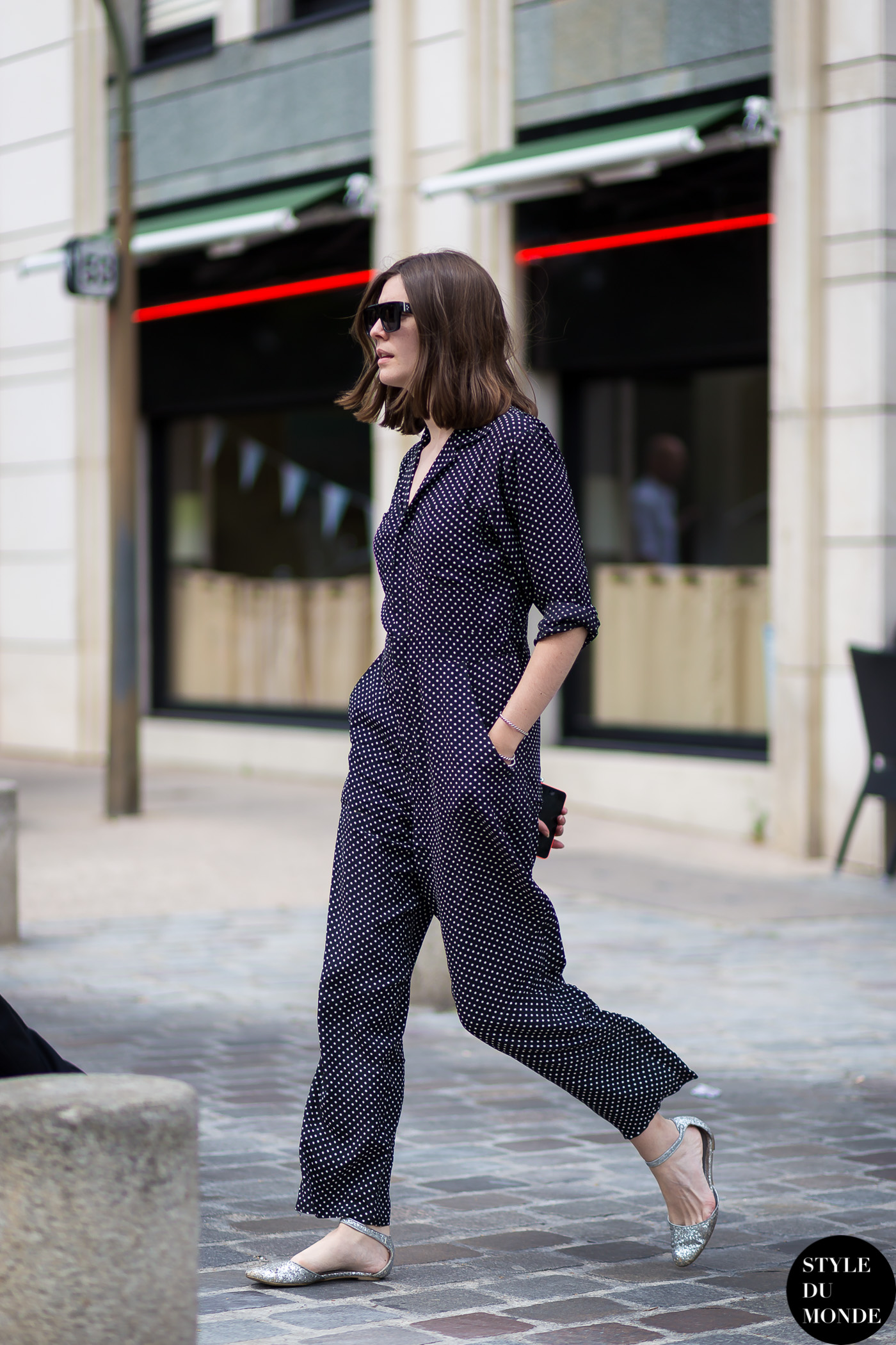 Polka Dot Jumpsuit Style Du Monde Street Style Street Fashion Photos