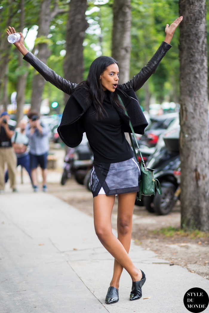 Haute Couture Fall 2014 Street Style Grace Mahary Style